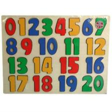 Wooden Jigsaw Puzzles, Preschool Education 0-20 Number Puzzle AtoZ Toys