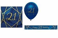 Navy & Gold Geo 21st Birthday Value Decoration Party Pack