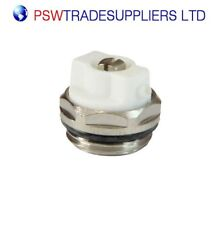 "1/2"" Manual White Chrome Directional Radiator Air Vent Bleed Valve plug CP inch"