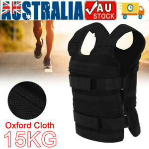 Adjustable 15KG Weighted Vest Fitness Running Gym Weight Loss Training Jacket