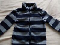 Little Rebel Boys Girls Unisex Blue Stripe Long Sleeve Warm Jacket 9-12 Months