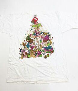 VIntage Disney Santas Workshop Christmas Seven Dwarves Bedazzle Night Shirt OSFA
