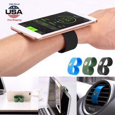 Universal Magnetic Car Phone Holder Air Vent Phone Mount Wrist Band Strap Holder