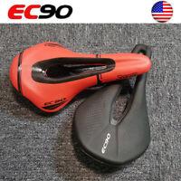 EC90 MTB Bike Gel Leather Breathable Soft Saddle EVO Artificial Leather Cushion