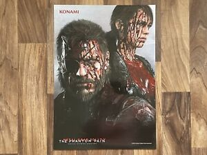 Metal Gear Solid V: The Phantom Pain Promo Pre-Order Poster - NEW - VGC