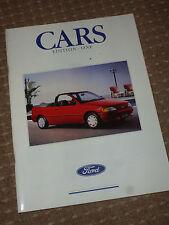 FORD classica 1991 brochure auto, Sierra XR4i, FIESTA, ESCORT ECC. 130 pagine