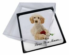 4x Poodle+Rose 'Love You Mum' Picture Table Coasters Set in Gift Bo, AD-CP7RlymC