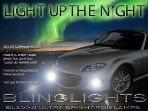Xenon Halogen Fog Lamps Driving Light Kit for 2013 2014 Mazda MX-5