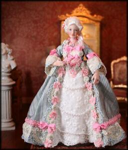 1:12 One Inch Scale Georgian Rococo Porcelain Lady dollhouse doll IGMA