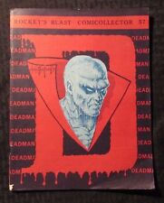1968 Rocket's Blast ComiCollector RBCC #57 VG 4.0 Fanzine - Deadman