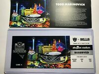 LAS VEGAS RAIDERS vs Buffalo Bills Collectible NFL Ticket Stub 10/4/2020 Game 4