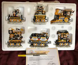 Pittsburgh Steelers  Christmas Express Train Danbury Mint  Set COA MIB