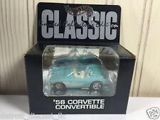 1:64 SEALED Hot Wheels Hills Classic 1958 Turquoise Chevrolet Corvette Roadster