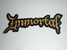 IMMORTAL EMBROIDERED LOGO BLACK METAL PATCH
