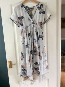 Mint Velvet Butterfly Hankerchief Cotton/silk Dress Size16