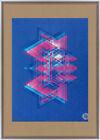 Large screenprint print abstract artist signed Albers gallery pop op art josef u