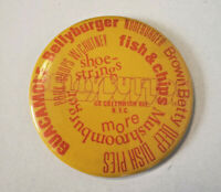 RARE 1970s BELLYBUTTON GREENWICH AVE NY RESTAURANT NYC PIN BADGE BUTTON PINBACK