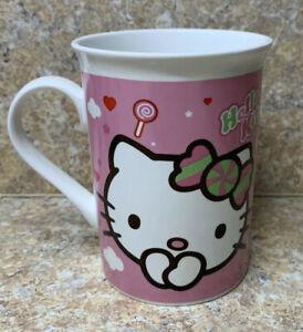 Hello Kitty White And Pink Ceramic Coffee Cup /Mug ~*2012 *~Sanrio *New*