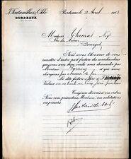 """BORDEAUX (33) Raffinerie / ESSENCE de TEREBENTHINE """"FONTANILHES & OKLE"""" en 1903"""