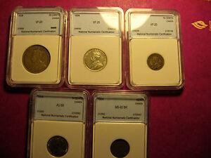 1934 Canada 5 coin set