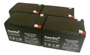 PowerStar 4 Pack - 12V 12Ah Ebike Electric Scooter Battery E-Bike Boreem Battery