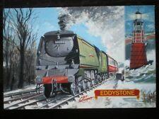 POSTCARD BULLIED WEST COUNTRY CLASS LOCO NO 34028 'EDDYSTONE'