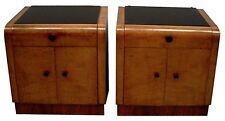 Art Deco Nightstands, pair c. 1920 #6253