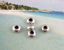 100Pcs Tibetan silver flat Round spacer beads FC12533