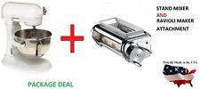 New KitchenAid stand mixer 5-QT 450-W KV25GOXww AND KRAV Ravioli Maker Attchment