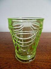 Art Deco Green Vaseline/Pearline Glass