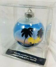 DISNEY CRUISE LINE CASTAWAY CAY BAHAMAS Glass Christmas Ball Ornament