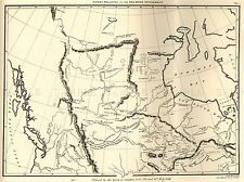 MAP ANTIQUE NORTH AMERICA CANADA HUDSONS BAY ART POSTER PRINT LV2129