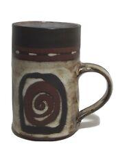 Briglin Vintage  Brown Stoneware Swirl Mug