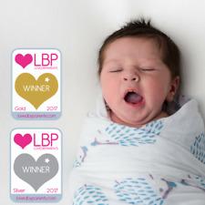 Tiny Chipmunk 100% Bamboo Baby Swaddle Blanket - 4 Pk Extra Large Muslin Squares