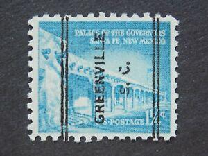"""(1) MNH U. S. pre cancel stamp-Scott # 1031A-w/a """" :Greenville, SC"""". P/C"""