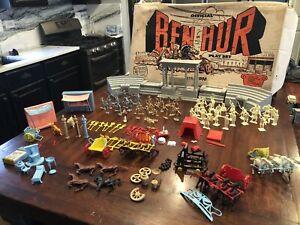 Vintage Original Marx Ben Hur Play set Colosseum & Instructions, Figures Rare