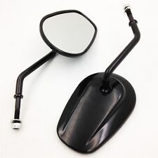 For Harley Davidson FXD FXDC FXDB FXDL FXDF FXDWG 8mm New Black Rearview Mirrors
