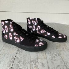 NEW! IRON FIST High Top Skater Shoes Sneakers Black Skulls Skeleton Halloween 7