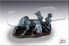 Neuheit Couchtisch Hunde Familie Wohnzimmertisch Tisch Glastisch Luxusmöbel