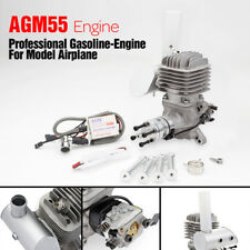 AGM55 DLE55 VS 55cc Gas Engine + CDI & Muffler for RC Plane Aircraft
