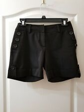H&M Sz 4 Black Casual Bermuda Walking Shorts H1