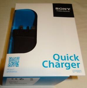 Sony EP881 Quick Charger Genuine brand new RETAIL BOXED unopened