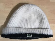 Lacoste Wool Beanie Hat Cream/Black One Size