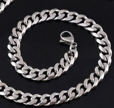 """34"""" 5mm Stainless Steel Curb Chain Link necklace Silver Tone 925 STCr5S UK"""
