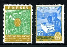 Philippines 1221-1222,MNH.Michel 1089-1090. Boy Scouts,50th Ann.Activities,1977.