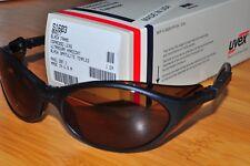 Uvex S1603 Bandit Safety Eyewear GlassWraparound Black Frame Espresso Lens USA