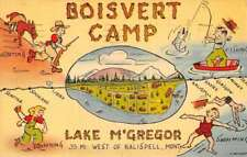 Lake M Gregor Montana Boisvert Camp Comic Humor Antique Postcard K78182