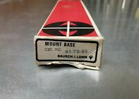 Vintage Bausch & Lomb Trophy Scope Mount Base #61-76-81 For  Ruger M -77