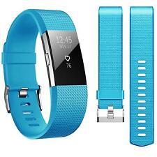 Remplazo Silicona Muñequera Sudadera Fitbit Lote 2 Band Fitness Reloj Azul Claro