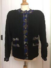 Amazing  Vintage Koos van den Akker Black Boucle Blazer/jacket
